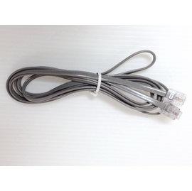 2芯電話線/雙水晶頭  (1.5m) 灰黑