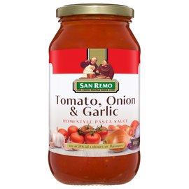 美味大師~澳洲 San Remo 聖雷蒙 義大利麵醬~蕃茄大蒜 500g 在家也能輕鬆DI