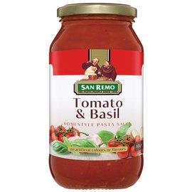 美味大師~澳洲 San Remo 聖雷蒙 義大利麵醬~蕃茄羅勒 500g 在家也能輕鬆DI