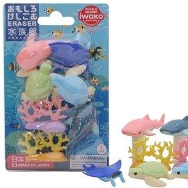 ~ iwako~環保無毒橡皮擦 海洋動物 擺飾 紙板裝 ^(水族館組^)