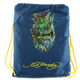 Ed Hardy - Drawstring Backpack Parrot  Navy