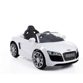 【店面購買5480元】『CK10-1』AUDI奧迪R8電動車/遙控/兒童電動車(白)【商標、設計、版權經過奧迪授權】