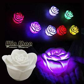 【Q禮品】B1761 LED極光炫七彩玫瑰燈-5.5cm,婚禮小物禮品可當小夜燈、擺燈,情人浪漫氣氛再加分~另售蠟燭LED燈