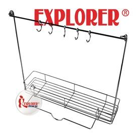探險家戶外用品㊣GU0406 探險家雙口爐不鏽鋼調味料罐架 適用COLEMAN SOTO 鹿牌 SNOW PEAK 鍋蓋架