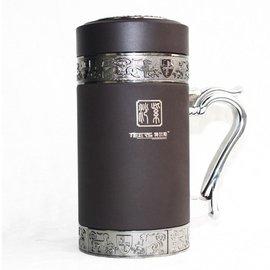 5Cgo~ 七天交貨~ 23375396086 宜興紫砂保溫杯 紫砂內膽 辦公杯 茶杯 水