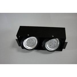 小棠照明館 設計師專用款LED時尚無邊框 AR崁燈.投射燈/9W雙燈(整組)台灣晶電晶片/商業空間/裝潢燈具照明