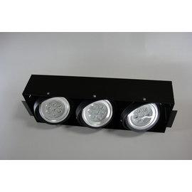 小棠照明館 設計師專用款LED時尚無邊框 AR崁燈.投射燈/9W三燈(整組)台灣晶電晶片/商業空間/裝潢燈具照明
