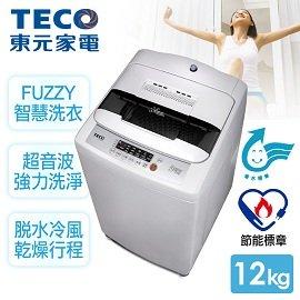 。省水標章+節能標章認證。 A0261【東元TECO】10kg晶鑽內槽超音波單槽洗衣機/W1028UN