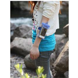朔溪/浮淺/水上活動時  可放手機,手錶,皮包 超強防水袋/防水套/防水包 **手臂式**(藍/桃紅) [ABO-00004]