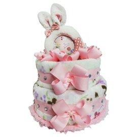 娃娃屋樂園 Le Sucre法國砂糖兔^(相框^)尿布蛋糕~粉紅色只要2299元 生日蛋糕