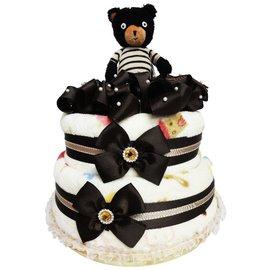 娃娃屋樂園^~Le Sucre法國砂糖熊尿布蛋糕~巧克力色 每組2299元 生日蛋糕 彌月