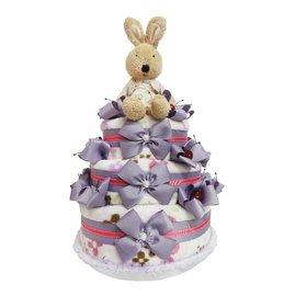 娃娃屋樂園~Le Sucre法國砂糖兔 三層 尿布蛋糕~紫色 每組2699元 生日蛋糕 彌
