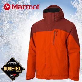 【美國 MARMOT】男限量款Palisades GORE-TEX可拆式兩件式風雨衣(內層700 fill 輕薄保暖羽絨).防水透氣兩件式保暖外套_ 30420 橘/橘紅