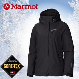 【美國 MARMOT】女限量款Palisades GORE-TEX可拆式兩件式風雨衣(內層700 fill 輕薄保暖羽絨).防水透氣兩件式保暖外套.雪衣/35750 黑