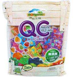 QC 維他命C水果軟糖經濟包^(水滴型.外裹糖粉^) 無色素 一包嘗鮮價