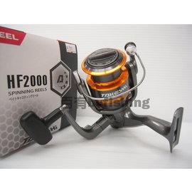◎百有釣具◎TAKESHI REEL HF-2000 紡車式捲線器~送母線纏到飽