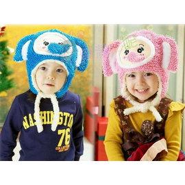 果漾妮妮 韓單柔軟可愛大象 兒童帽子 保暖 寶寶 大童 針織帽 護耳帽T015