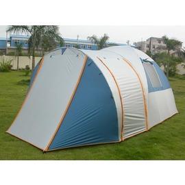 探險家露營帳篷㊣T102豪華雙房雙窗歐式六人帳篷(6~10人帳)(550*240cm) 帳棚