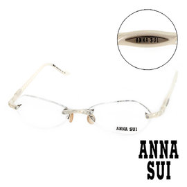 Anna Sui 安娜蘇 螺旋珠光無框眼鏡^(白^) AS02403