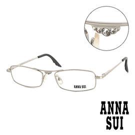 Anna Sui 安娜蘇 白鑽金屬 平光眼鏡^(銀^) AS05101