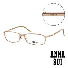 Anna Sui 安娜蘇 復古 平光眼鏡 金  AS06301