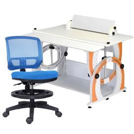 ~ 屋~兒童成長書桌網背椅組DE~100 12色 免  製 櫥櫃 辦公桌椅 人體工學椅 電