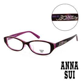 Anna Sui 安娜蘇 豹紋薔薇 平光眼鏡 咖啡  AS575188