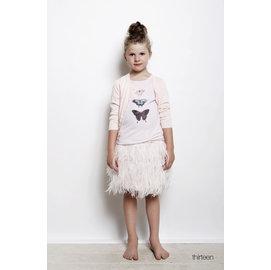 美國知名品牌 curio kind 好萊塢明星的最愛 女 暖杏 純白 3^~14歲 羽毛短
