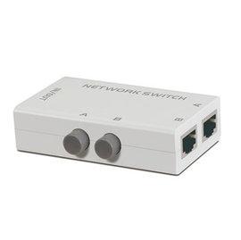(手動式switch) RJ45 二進一出 2切1 網路切換器/轉換器