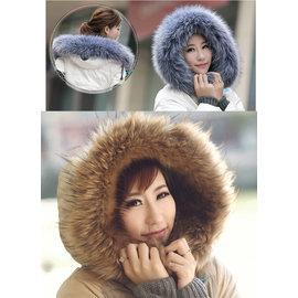 華麗仿皮草毛毛圍巾+披肩+帽圍~多功能!多變化! 男女皆可用!◇/圍脖領圍