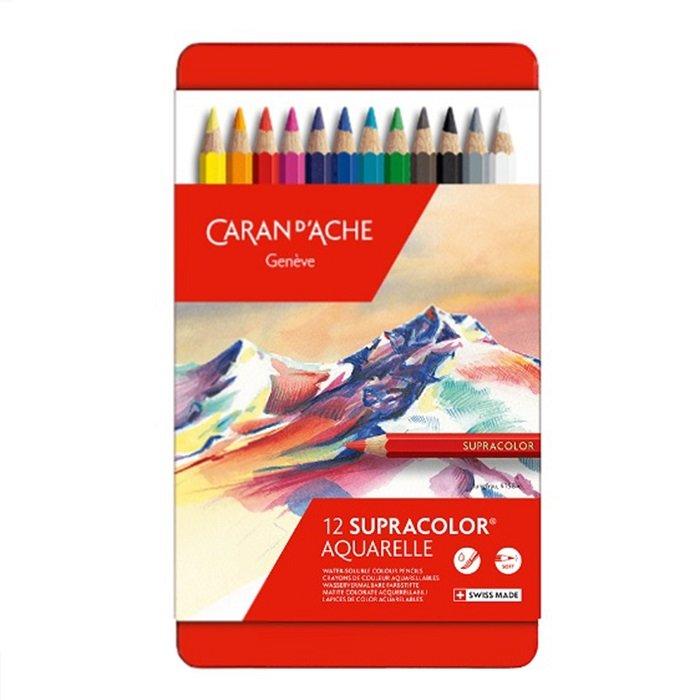 瑞士Caran d Ache卡達 PABLO油性12色彩色鉛筆^~666.312