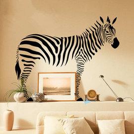 野性非洲之斑馬 第五代可移除牆貼~可重覆撕貼! 大型客廳電視牆沙發背景/壁貼/壁紙牆紙