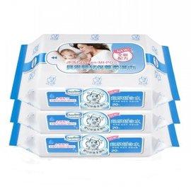 Baan 貝恩 EDI 無香料超純水嬰兒保養隨手包柔濕巾【20抽x3包】*全新包裝*