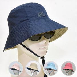 防曬抗UV 吸排快乾 雙面雙色面漁夫帽~有帽帶 雪之旅 SnowTravel