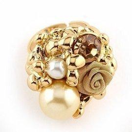 special 複古戒指 女 告別蘇格拉底 g法式浪漫x花朵合成珍珠