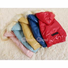 超 細格紋防水保暖雪衣~帽可拆~_ 小型犬_小狗衣服寵物衣服中型犬~XS^~XL~