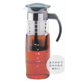 【日本HARIO】玻璃把手冷水壺-附濾網-1200ml