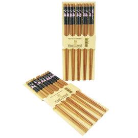 竹物語竹筷-10雙入-6入組 ( 線條小花、日式櫻