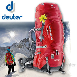 【德國 Deuter】Aircontact Pro(SL- Womens Fit)拔熱式透氣背包 55+15SL 登山.背包客.自助旅行.雙肩背包.旅行包_33813  暗紅