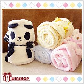 【winshop】A1787 日韓系可愛動物毛毯/午睡毯/懶人毯/嬰兒毯/冷氣毯/空調毯/披肩/折疊毛毯