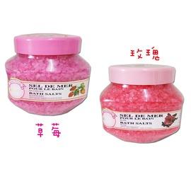 法國SEL DE MER一朵花天然芳香礦浴鹽~青蘋果 水蜜桃 草莓 玫瑰~1700g