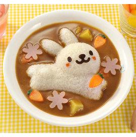 創意DIY小兔海豚花朵造型咖哩飯蓋飯燴飯模具組飯糰料理模具/創意模具