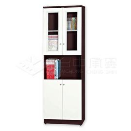 台中承鑫 南亞塑鋼上雙框開門中空下雙開門防水書櫃 02T21JA02SB03  櫃 衣櫃