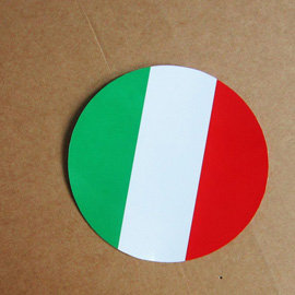 ~衝浪小胖~義大利國旗圓形抗UV、防水貼紙╱Italy╱世界多國款可蒐集和客製