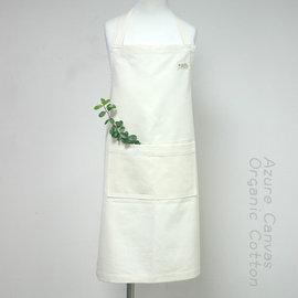 ☉藍天畫布☉ 100^%有機棉兒童圍裙, S^~M, 織造