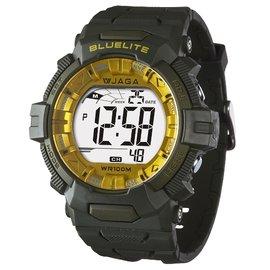 JAGA捷卡M979B多 防水100米 電子錶~黑色 白色 藍色 黑綠黃框