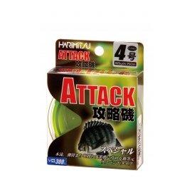 ◎百有釣具◎HARIMITSU  ATTACK-150M(透螢黃) 磯釣線 規格:2.5/3.0/4.0/5.0