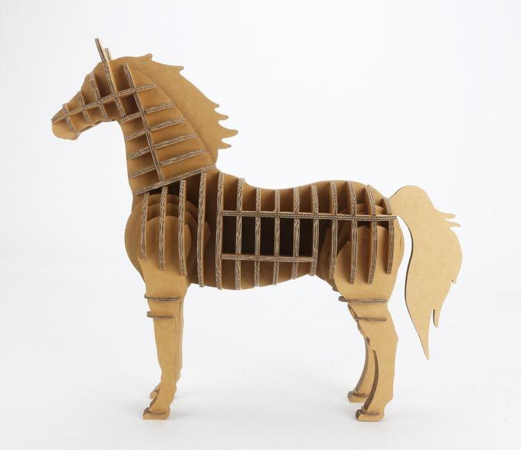 纸箱王动物园 - 马 - 瓦楞纸拼图/仿木片拼图
