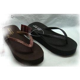 ╮ViVi Love真愛ViVi女鞋╭~ MIT 製 ❤名媛雜誌款^~搶眼亮粉舒適厚底夾腳