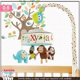 skk baby 動物園字母嬰兒床鈴/床繞/旋轉床掛/玩具【HH婦幼館】